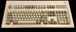 Teclat estàndard de Windows, Model M d'IBM. TRET al mercat el 1987
